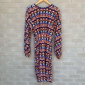 Zara Dresses - Zara Geometric Print Long Sleeve Dress